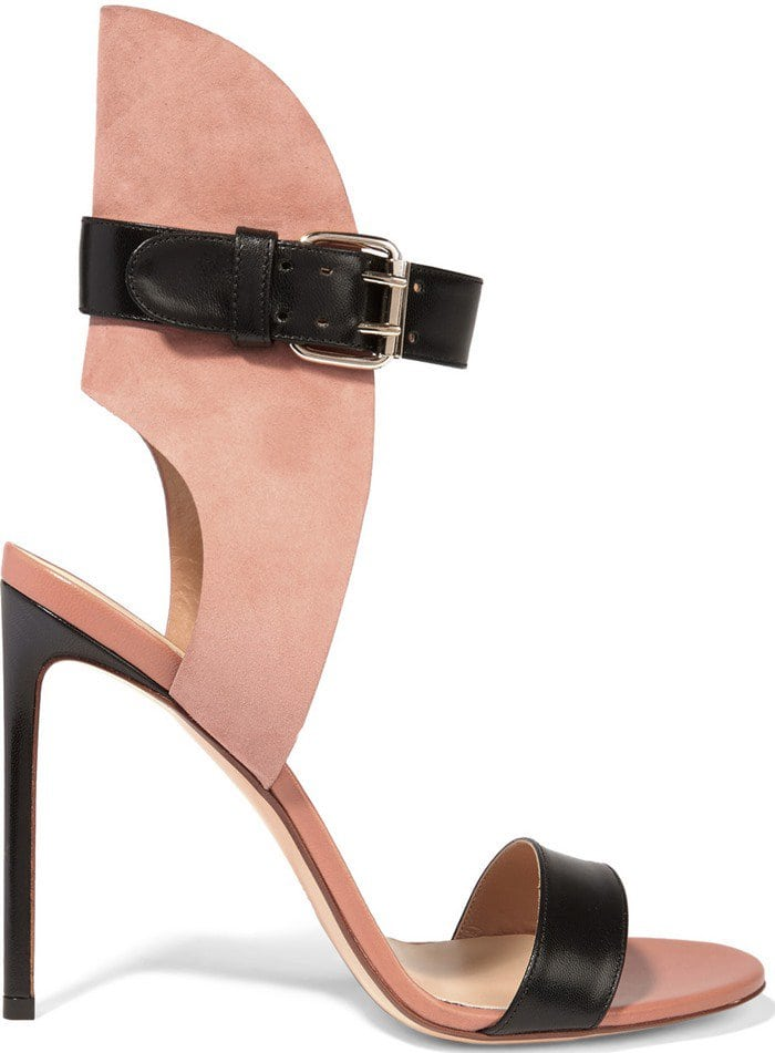 Francesco Russo Leather and suede sandal