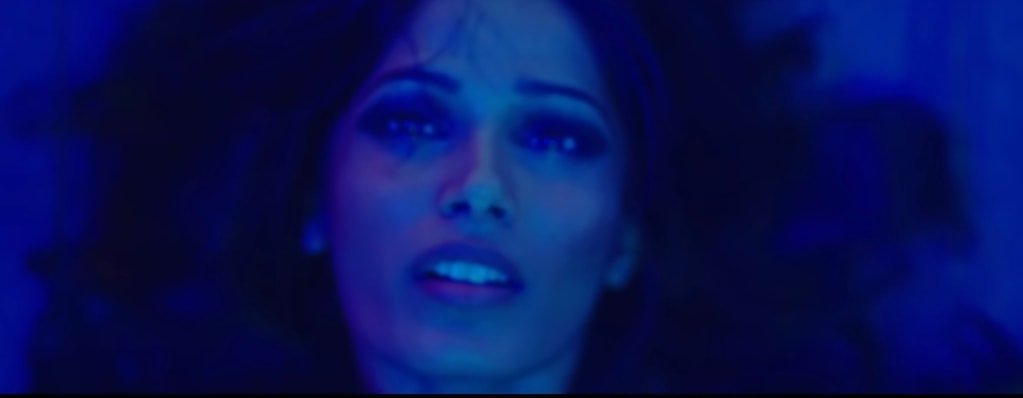"Freida Pinto appears in the music video for Bruno Mars' single ""Gorilla"""