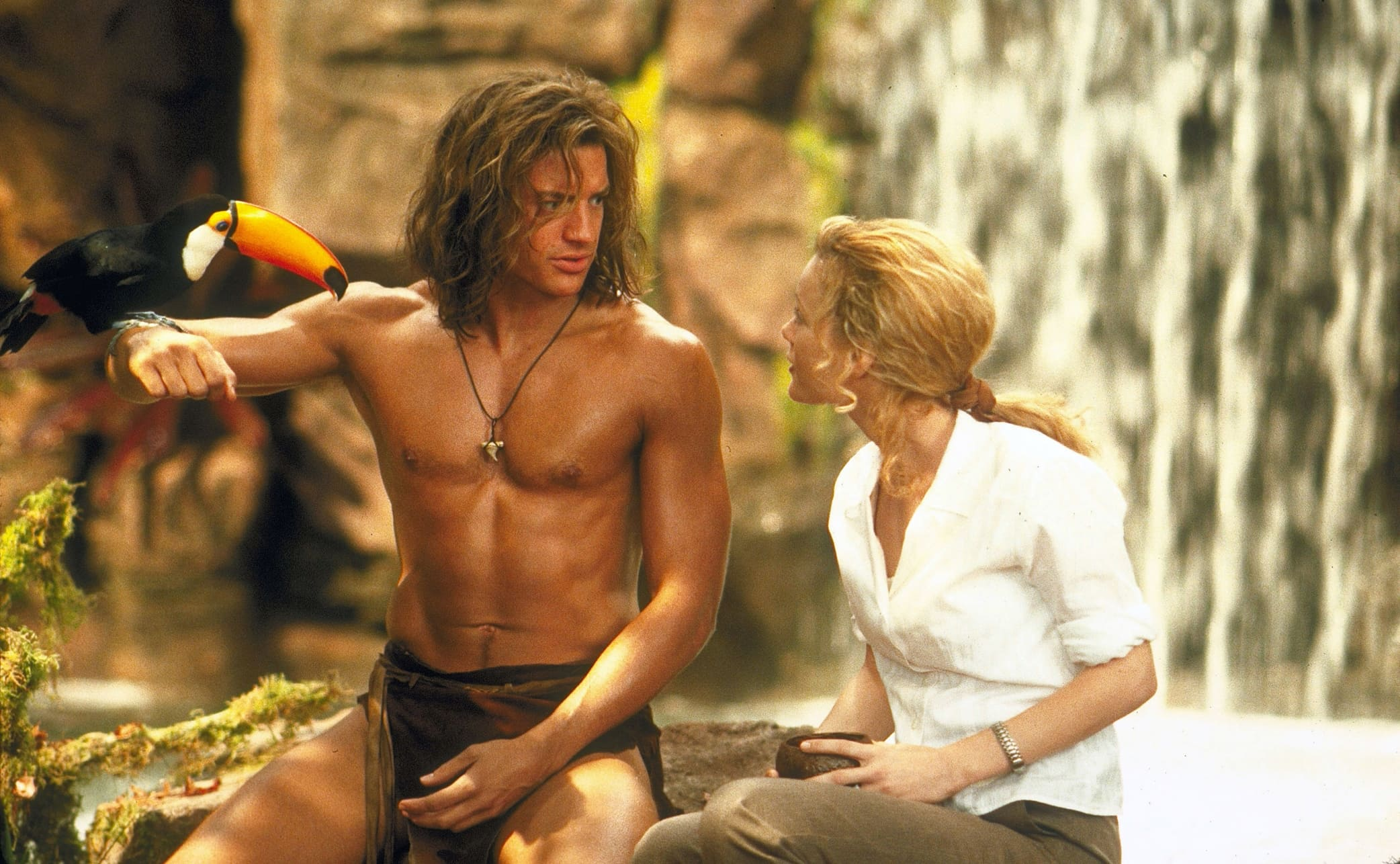 Brendan Fraser was 27 and Leslie Mann 25 at the premiere of George of the Jungle in 1997