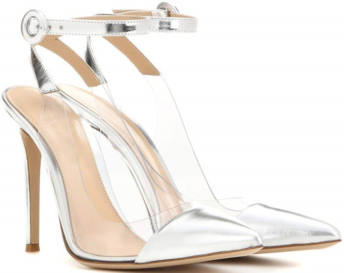 Gianvito Rossi Anise metallic leather pumps