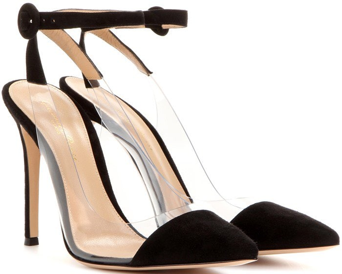 Gianvito Rossi Anise suede leather pumps