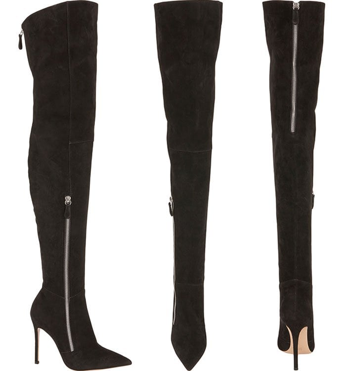 Gianvito Rossi Double-Zip Over-the-Knee Boots
