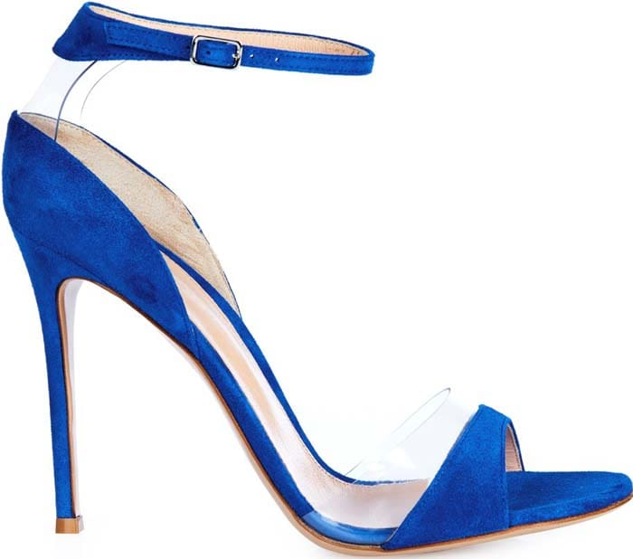 Gianvito Rossi Natalie Suede PVC Blue
