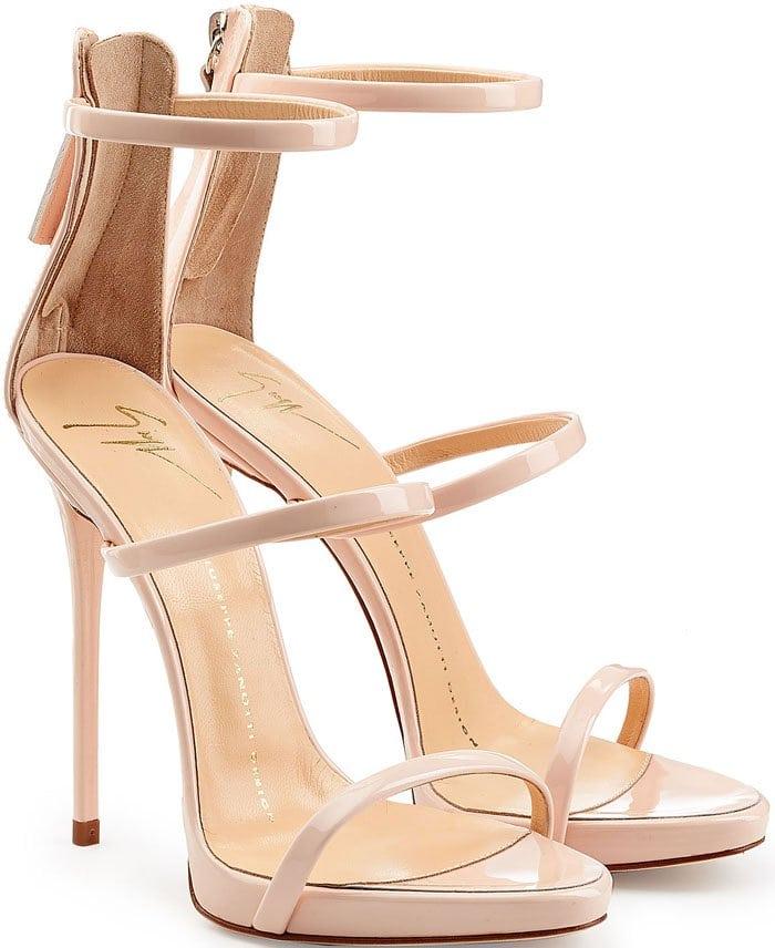 Giuseppe Zanotti 'Coline' Strappy Sandals in Patent