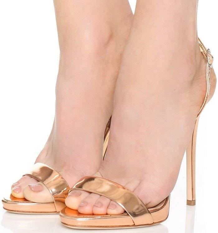 Giuseppe Zanotti Gold Strappy Sandal
