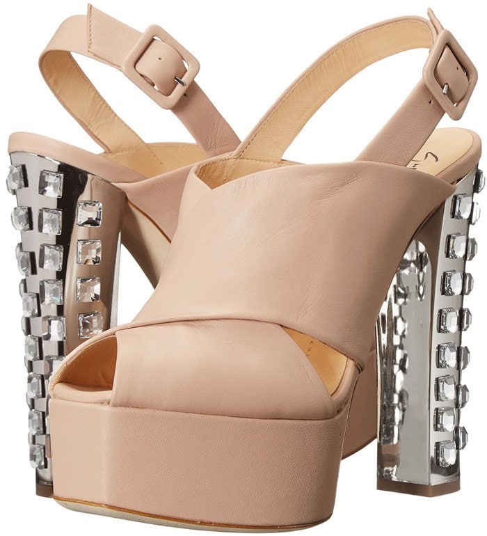 Giuseppe Zanotti Jewel Covered Block Heel