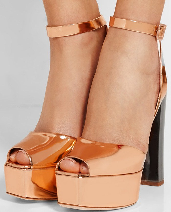 Giuseppe Zanotti Mirrored-leather platform sandals