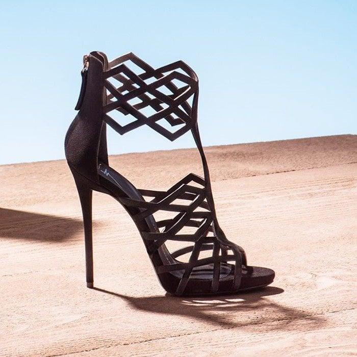 Giuseppe Zanotti 'Raquel' Cutout Suede Sandals