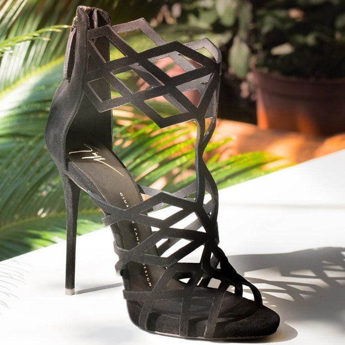 Giuseppe Zanotti Raquel geometric cutout suede sandals