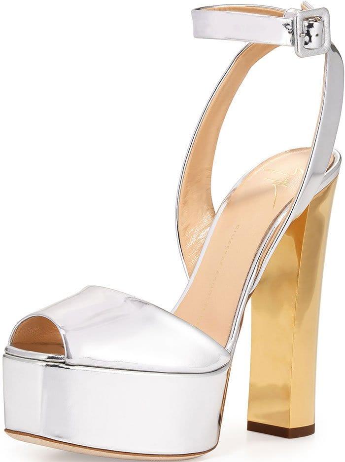 Giuseppe-Zanotti-Silver-Gold-Metallic-Platform-Sandals
