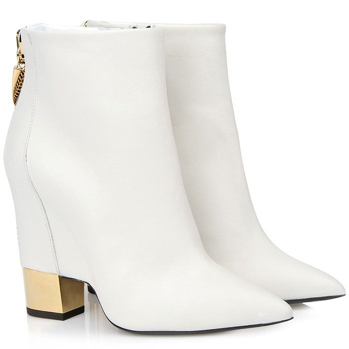 Giuseppe Zanotti 'Ester' Ankle Boots with Gold Heels