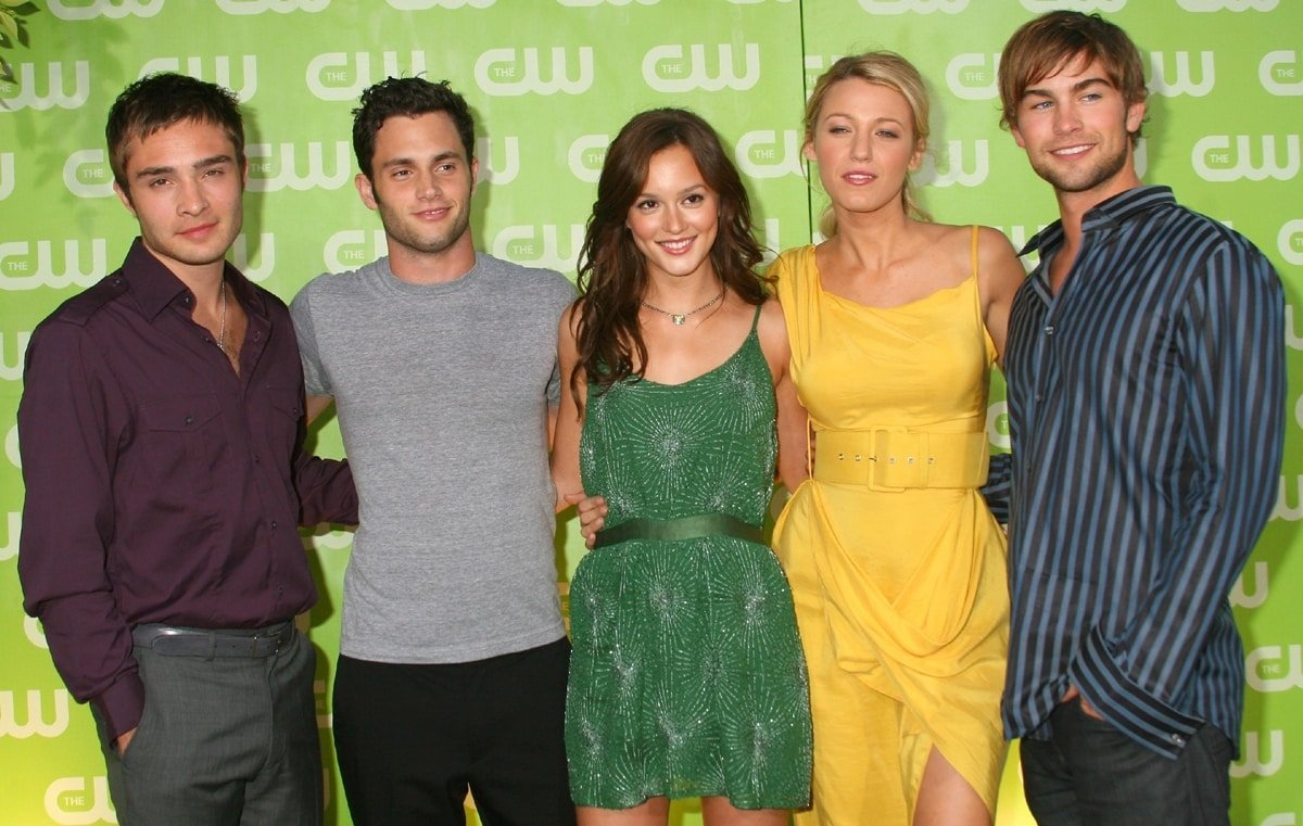 Gossip Girl stars Ed Westwick, Penn Badgley, Blake Lively, Leighton Meester, and Chase Crawford