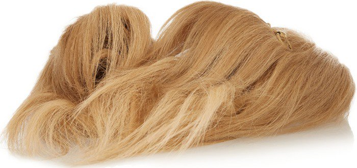 Gucci Horsebit-detailed goat hair slipper