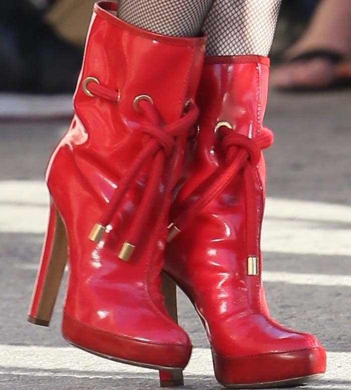 Gwen Stefani's favorite red DSquared2 boots