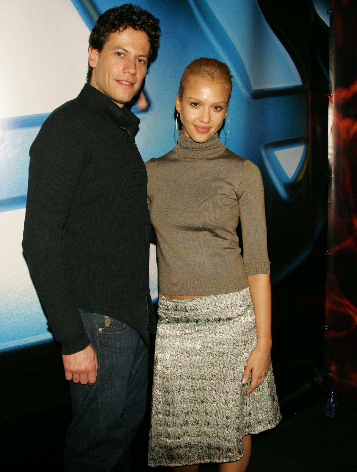Ioan Gruffudd and Jessica Alba promoting their new movie Fantastic Four