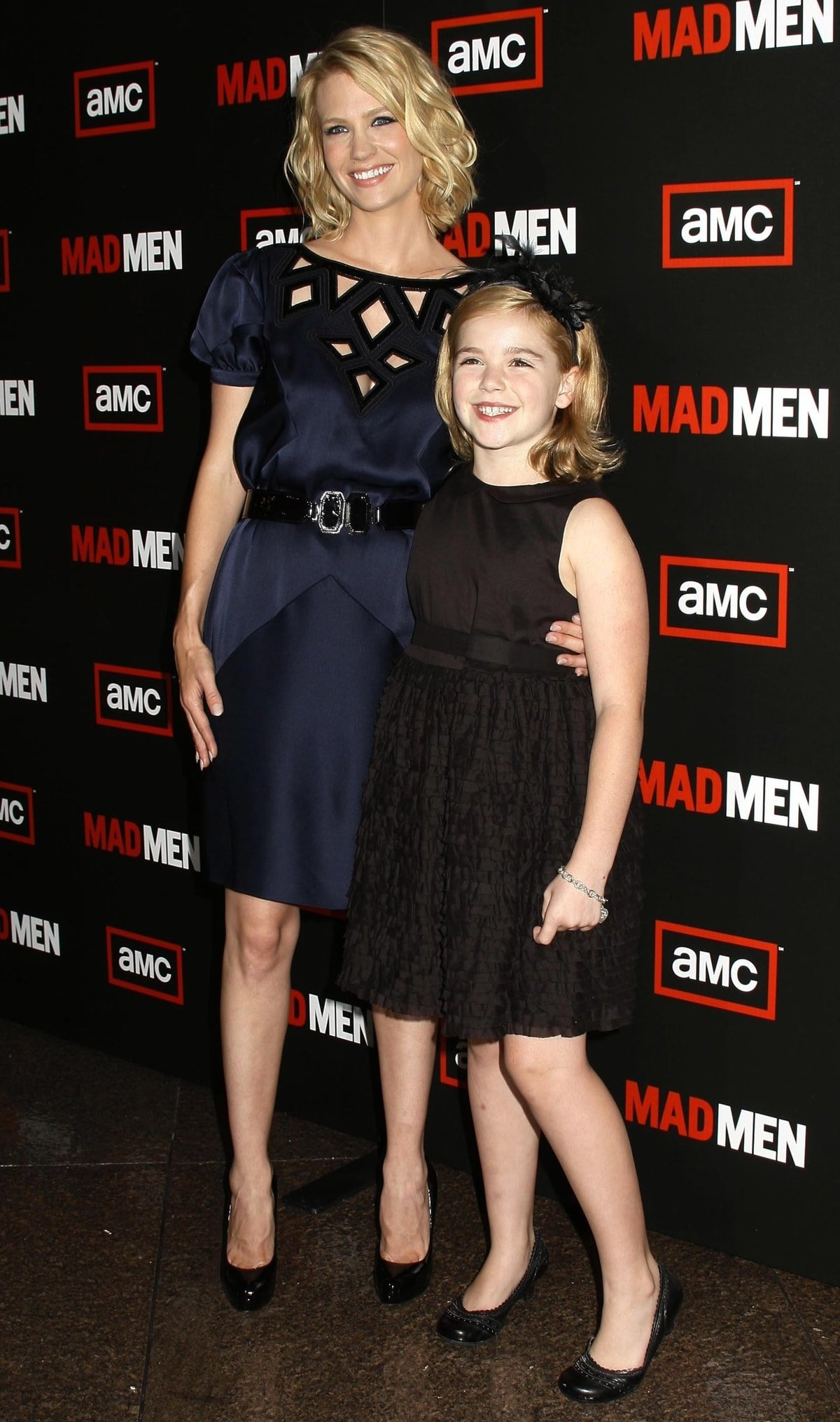 "Actresses January Jones and Kiernan Shipka attend the ""Mad Men"" Season 3 Premiere"