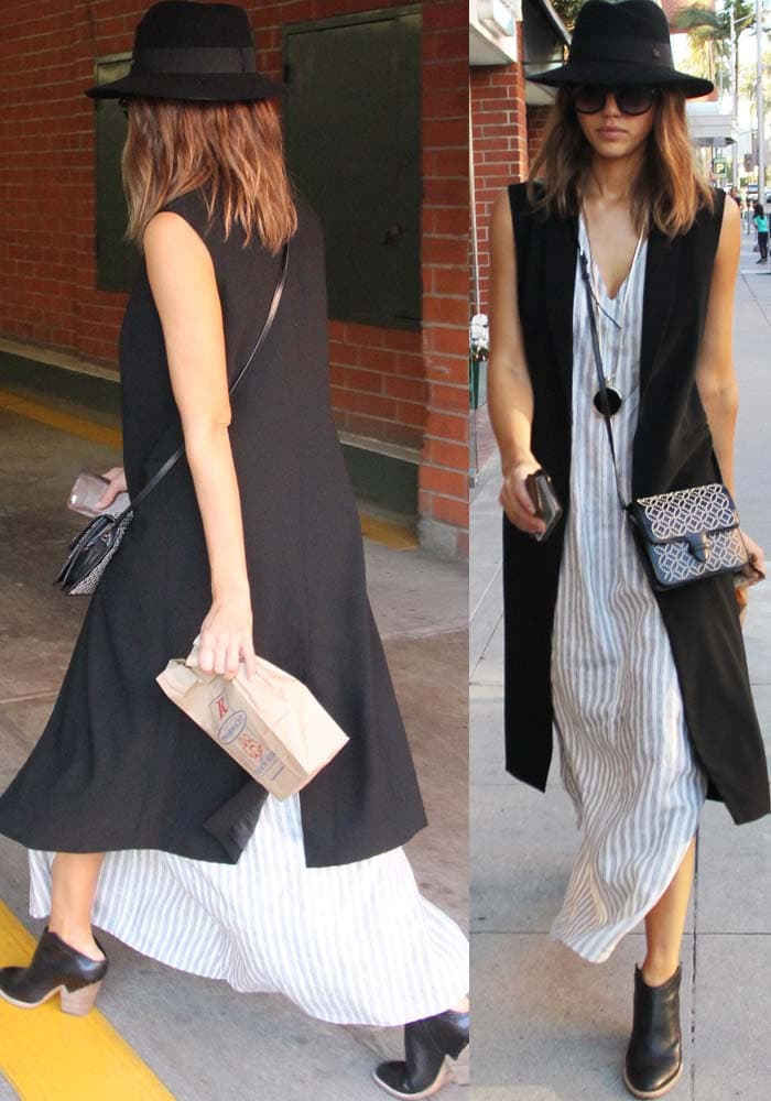 Jessica Alba Out LA Midas Shoes 3