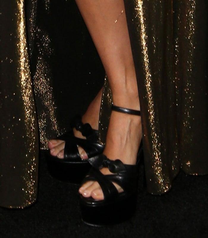 "Jessica Alba's feet in platform ""Candy"" heels"
