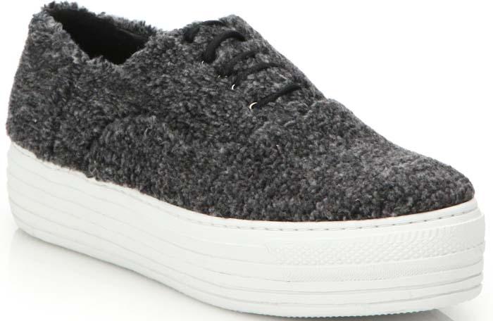 Joshua Sanders Shearling Sneakers Grey
