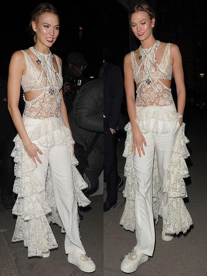 Karlie Kloss BRIT Awards Tape nightclub 2