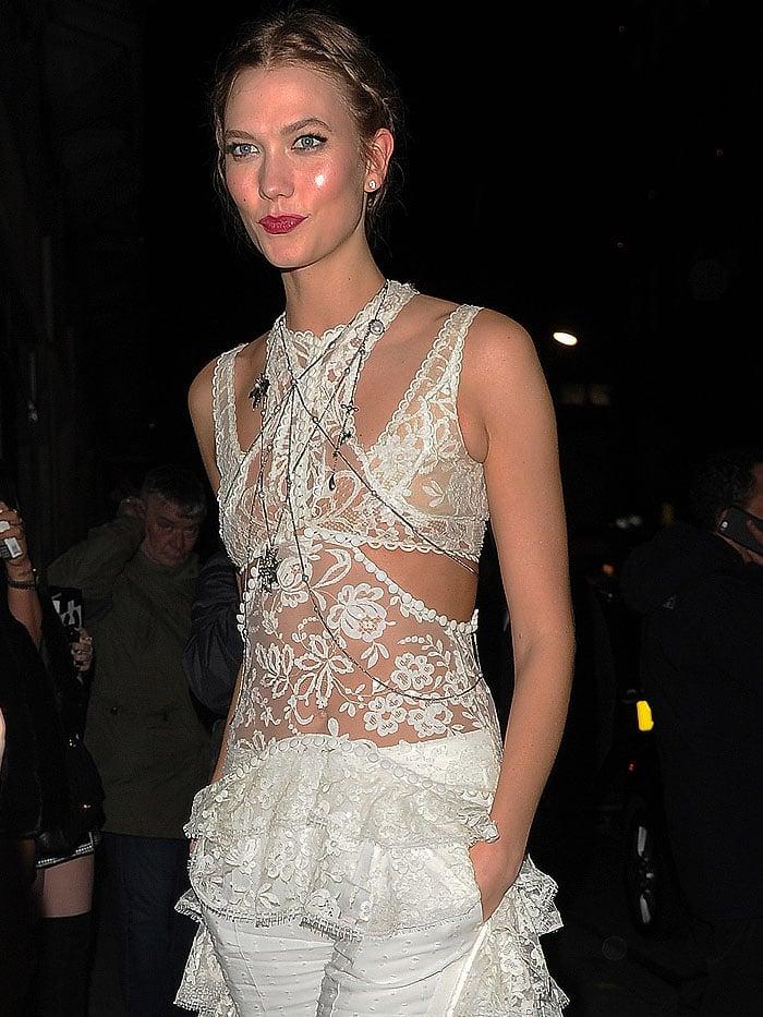 Karlie Kloss BRIT Awards Tape nightclub