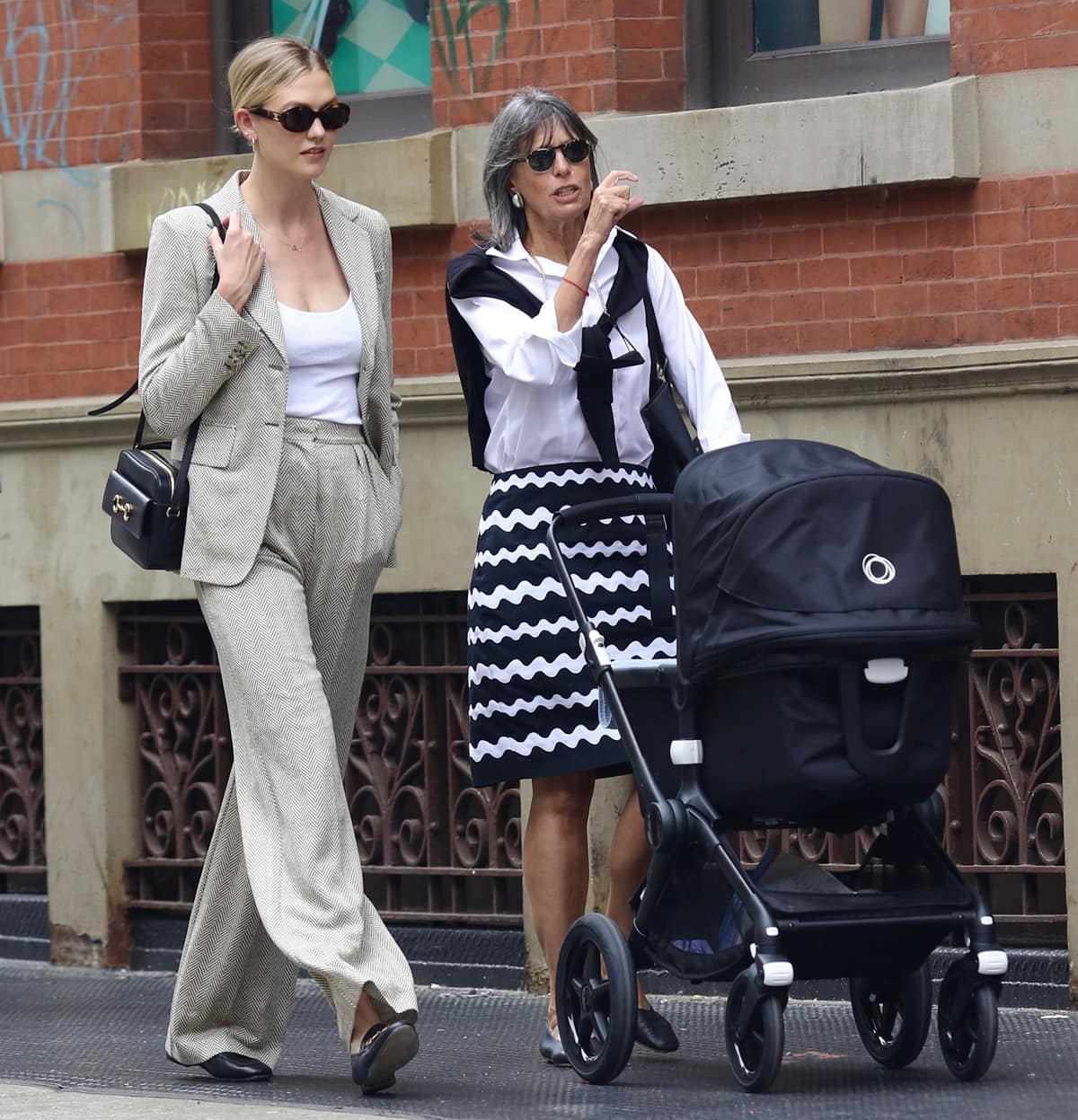 Karlie Kloss looks stylish while out shopping with her baby Levi Joseph and mother-in-law Seryl Kushner