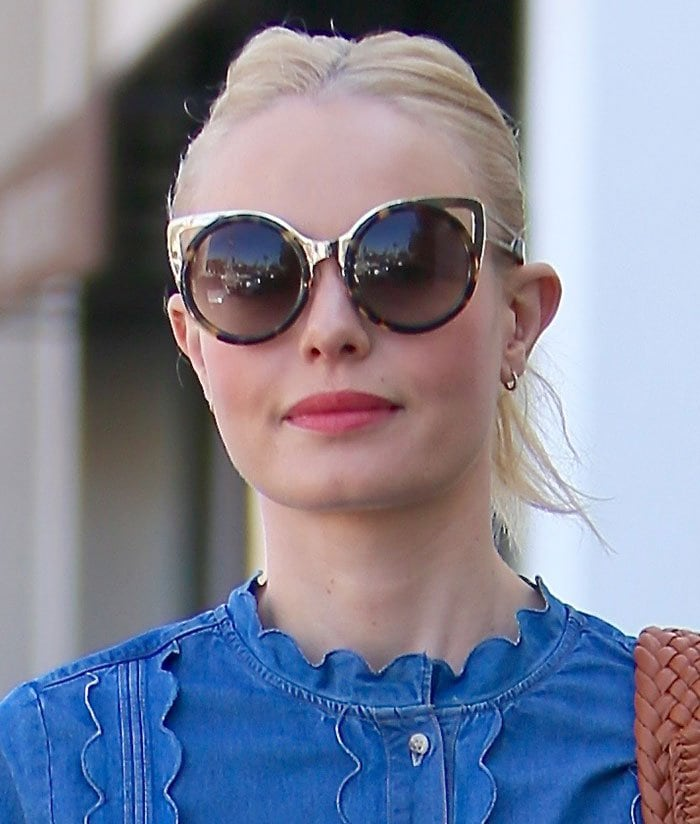 Kate Bosworth wears her hair back as she heads to a Beverly Hill salon