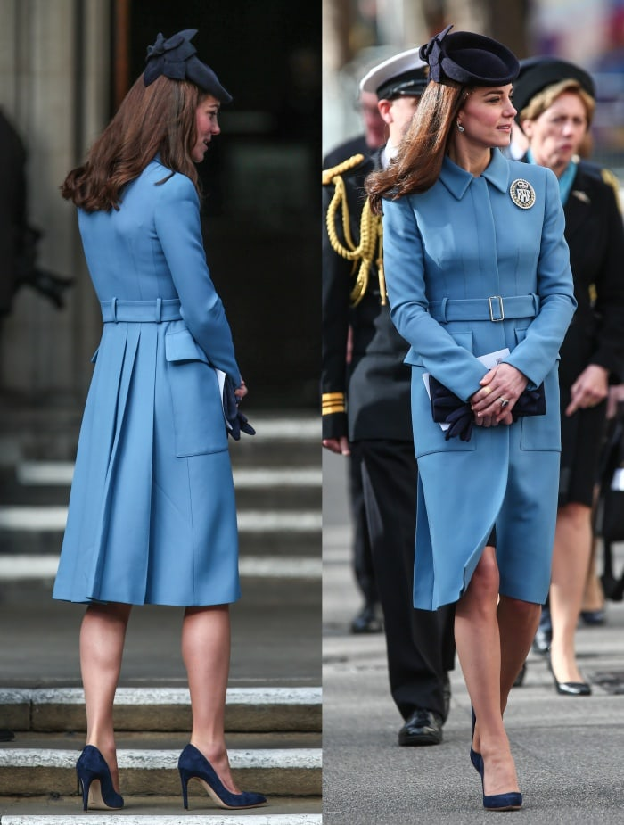 Kate Middleton Cadets Blue Coat Rupert Sanderson Pumps 1