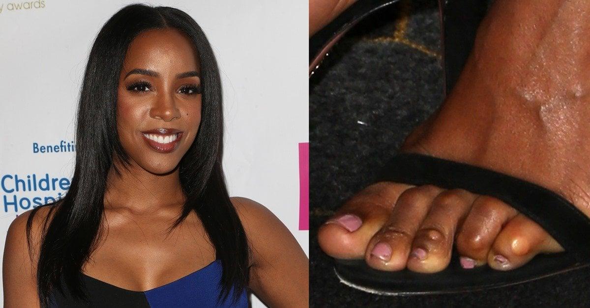 Kelly Rowland Exposes Corny Feet At Hollywood Beauty Awards