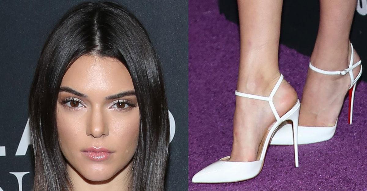 b4448e5d4296 Kendall Jenner Flaunts Legs in Christian Louboutin  Rivierina  Pumps