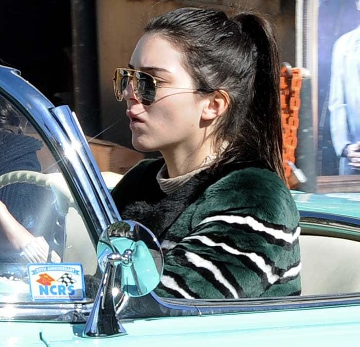 Kendall Jenner Corvette Coffee Shop Nike Flyknit 4