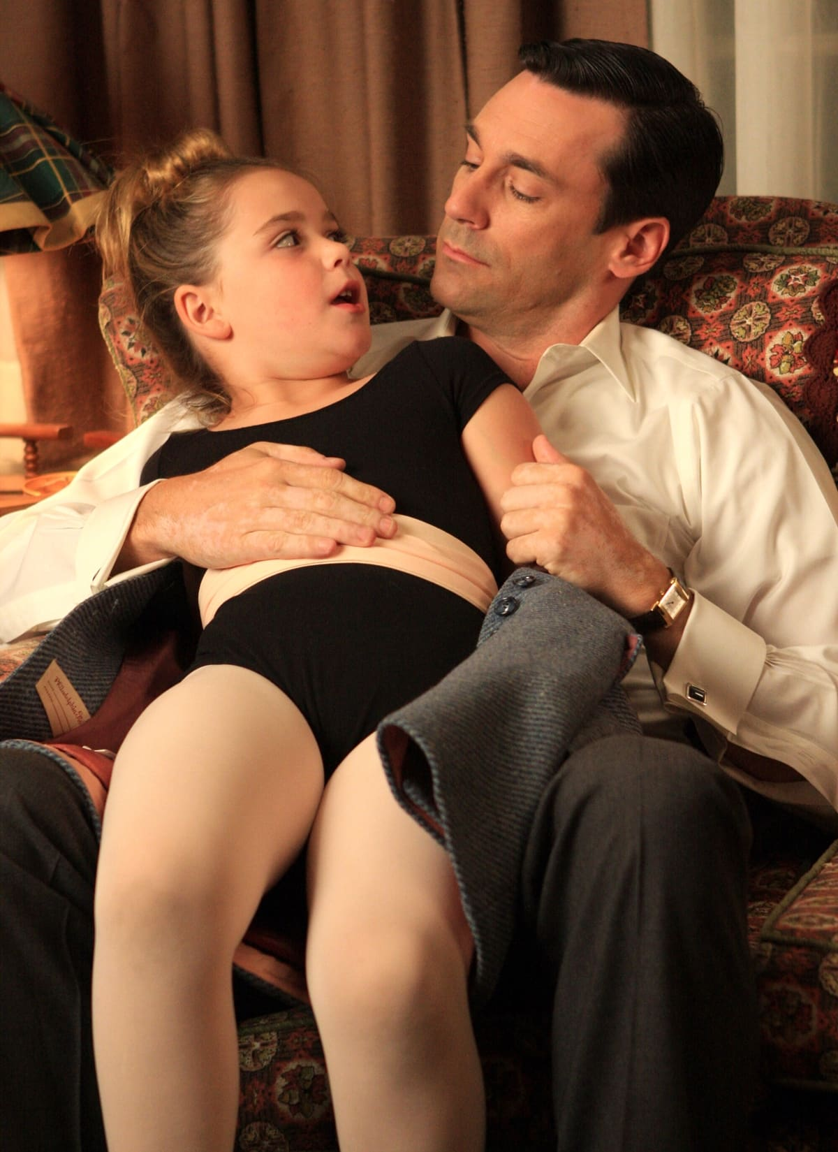 Jon Hamm and Kiernan Shipka starred as father and daughter for all seven seasons of Mad Men which ran from 2007-2015