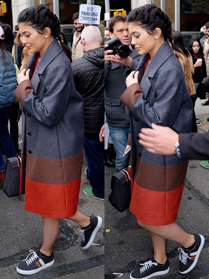 Kylie Jenner Boss Womenswear fashion show fall 2016