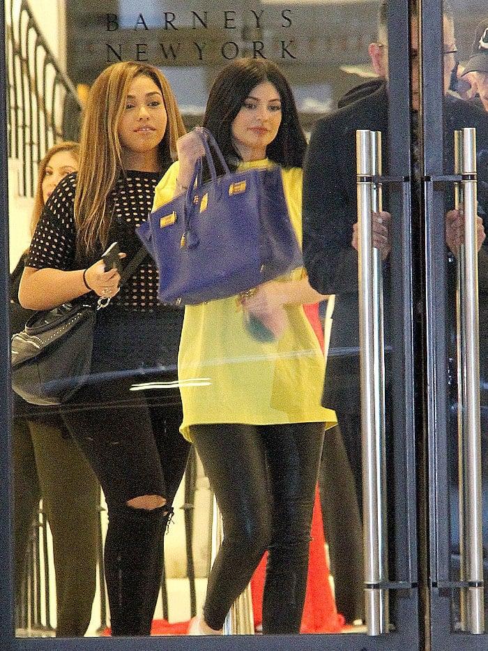 Kylie Jenner Jordyn Woods Barneys New York