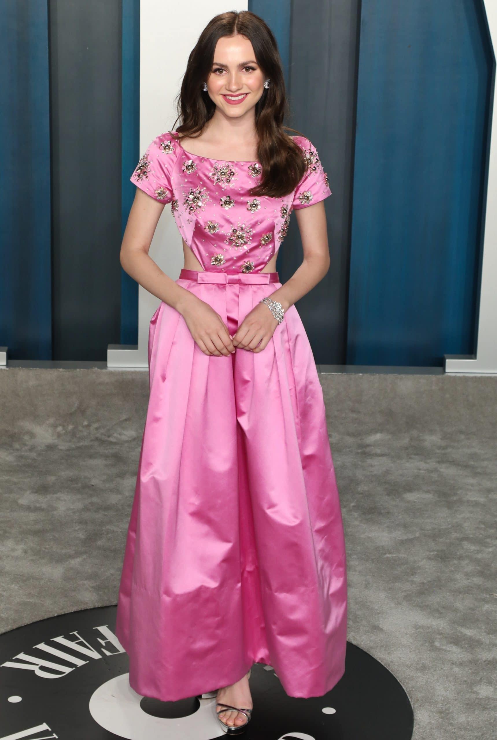 Maude Apatow in a Miu Miu dress at the 2020 Vanity Fair Oscar Party