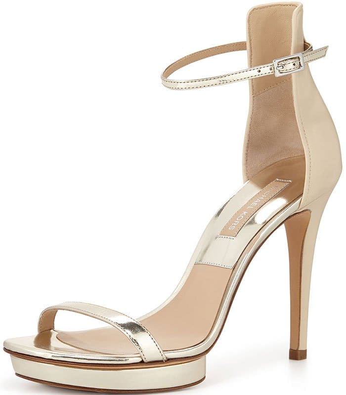 "Michael Kors ""Doris"" Metallic Platform Sandals"