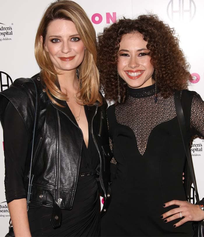 Actresses Mischa Barton (L) and Dora Madison attend the Muses and Music party hosted by NYLON Magazine at No Vacancy