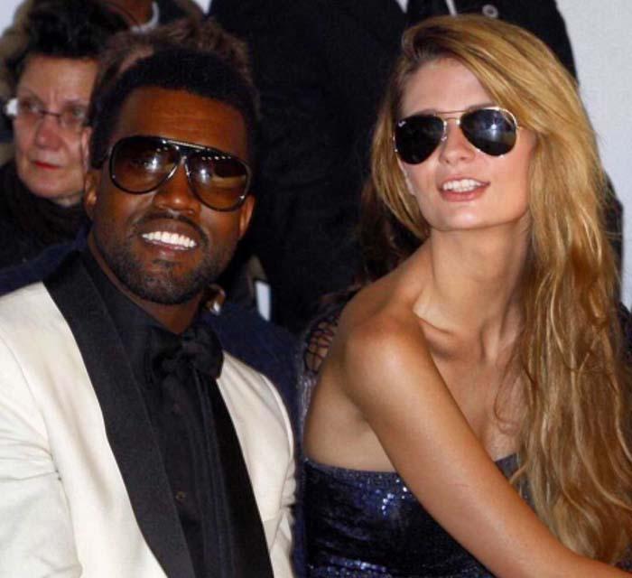 Mischa Barton posing with Kanye West