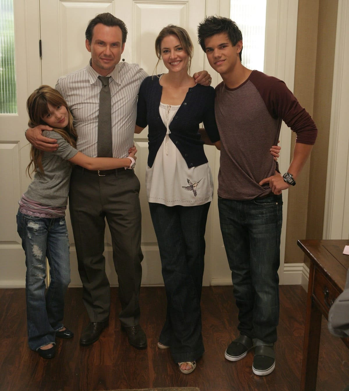 Bella Thorne was 11 years old when starring with Christian Slater, Madchen Amick, and Taylor Lautner in My Own Worst Enemy