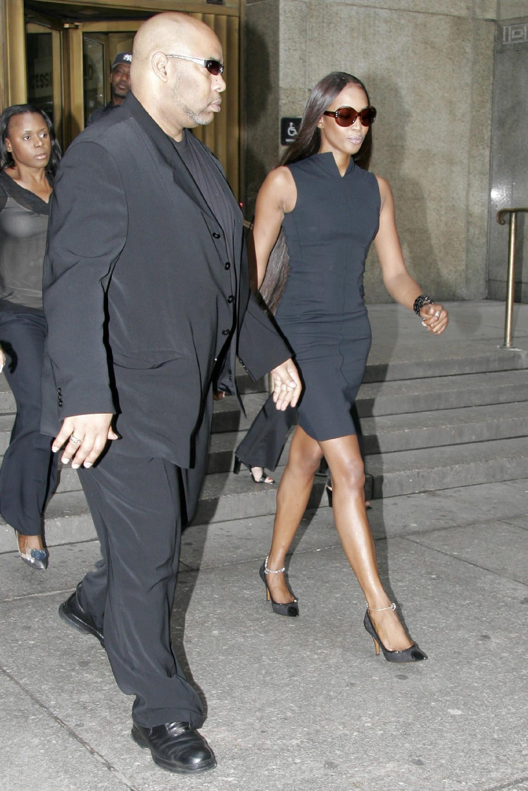 Naomi Campbell leaving Manhattan Criminal Court where she appeared on charges of second-degree assault in New York City