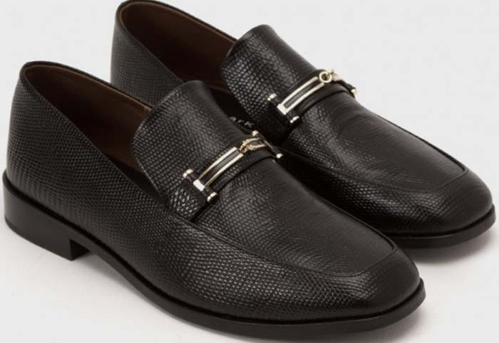 Newbark Melanie Loafers Lizard Black
