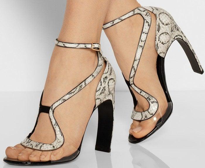 Nicholas Kirkwood Elaphe and Acetate Sandals