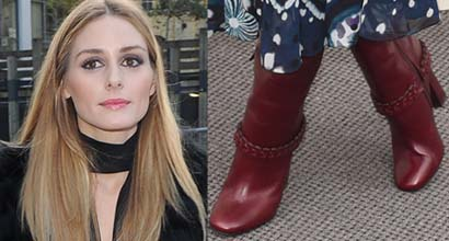 94046be36b1e Olivia Palermo Attends London Fashion Week in Christopher Kane and Burberry  Shows in Tory Burch  Sarava  Boots