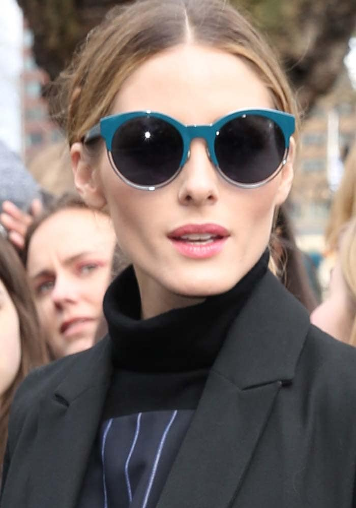 Olivia Palermo shared the front row of the London Fashion Week Topshop Unique show