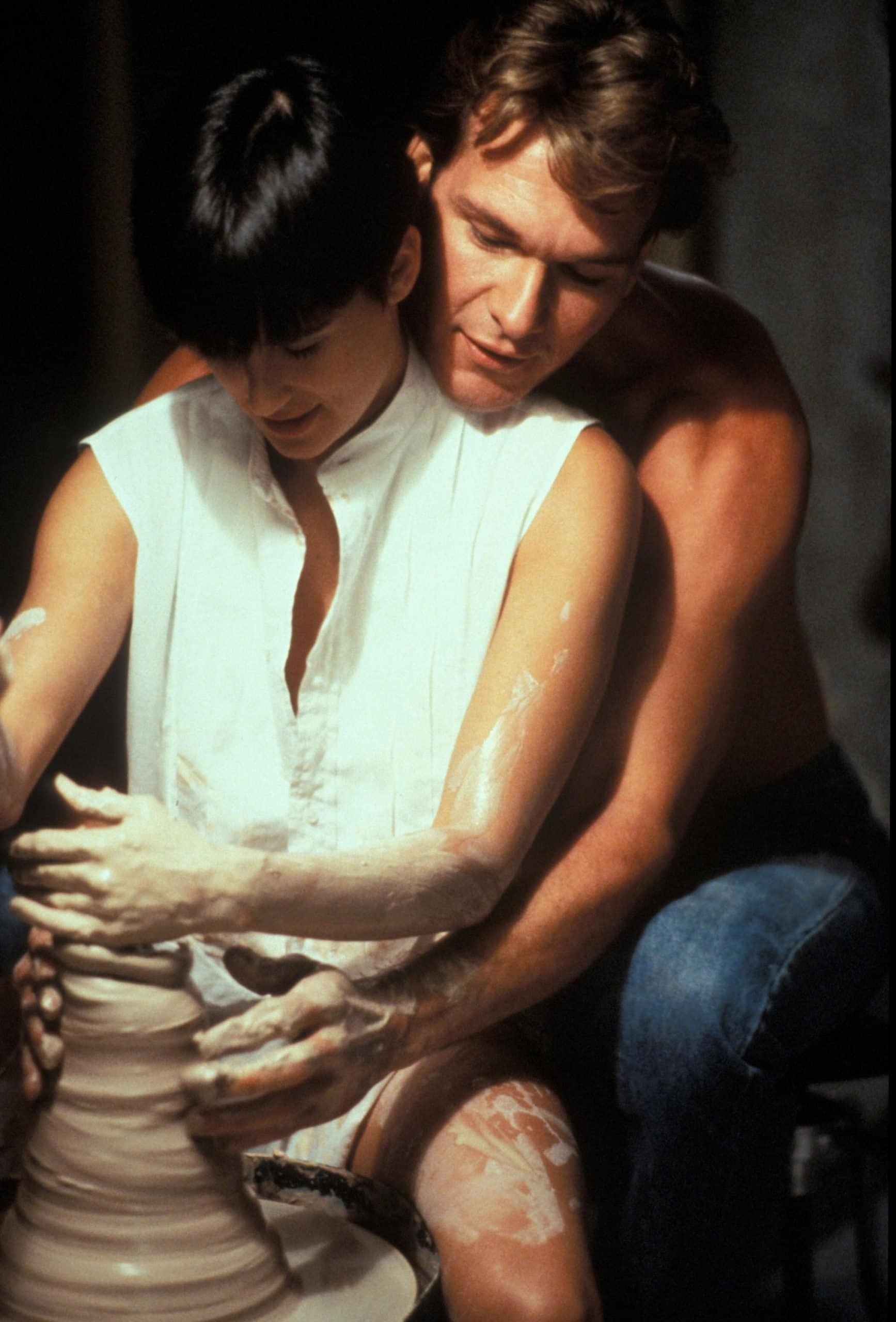 Demi Moore was 26 when filming the pottery scene in Ghost with Patrick Swayze