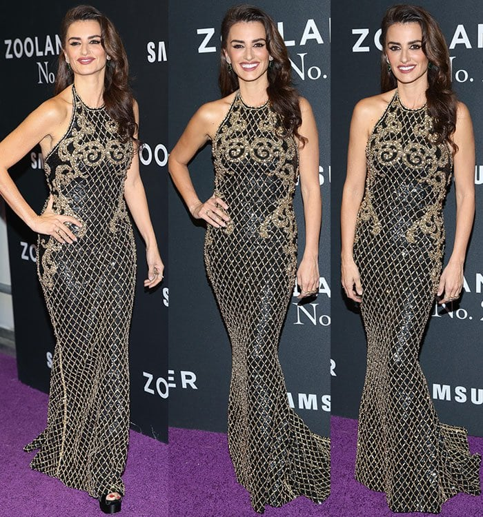 Penelope-Cruz-Balmain-embellished-gown-Brian-Atwood-pumps