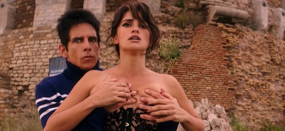 Ben Stiller checks out Penelope Cruz's boobs in Zoolander 2