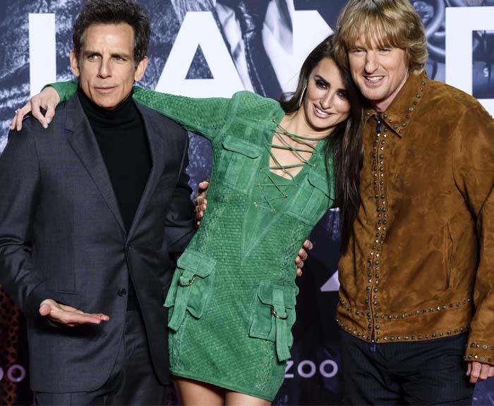 "Ben Stiller, Penelope Cruz and Owen Wilson pose for photos at the premiere of ""Zoolander 2"""