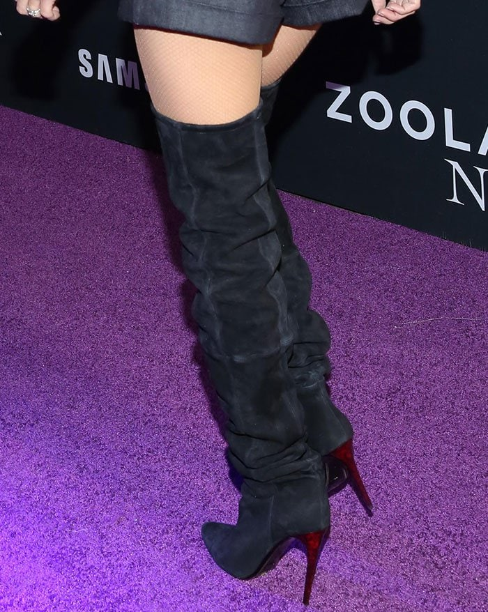 Penelope-Cruz-black-suede-over-the-knee-boots