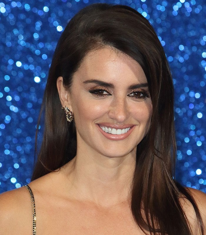 Penelope Cruz wears her hair down at the UK premiere of the stand-alone sequel to the 2001 film Zoolander